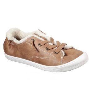 Bobs Shoes - Bobs Memory Foam Faux Suede & Fur sneakers size 10